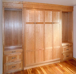 Hickory Murphy Bed