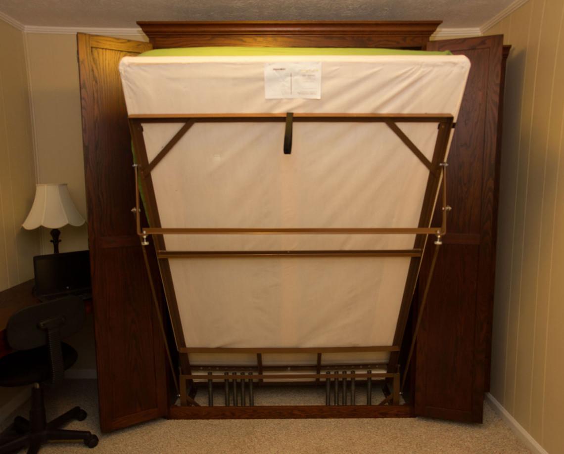 EZ-rest murphy bed frame in action