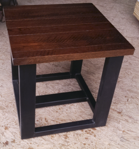 Utah style oak and metal table