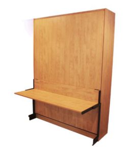 studio desk panel bed attachment to Murphy bed panel door cabinet, closed