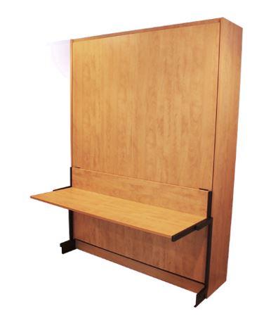 studio desk panel bed attachment to Murphy bed panel door cabinet, closed