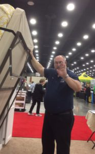 Tupper working hard at the Louisville Home Show