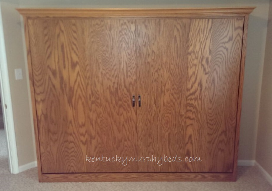 Panel Murphy Bed in Oak