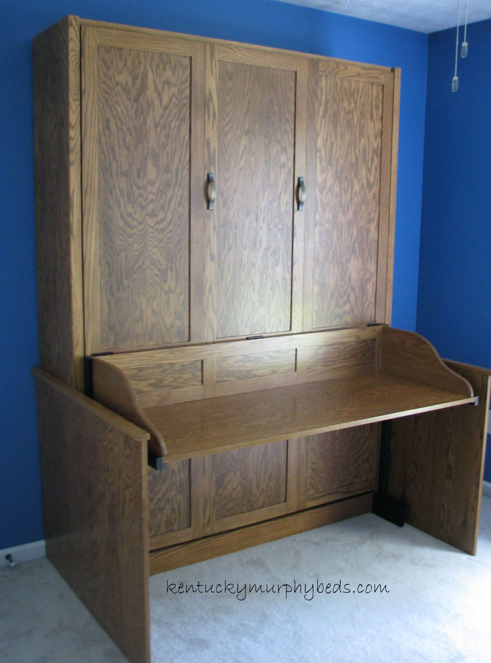 ak desk panel door Murphy bed, full size