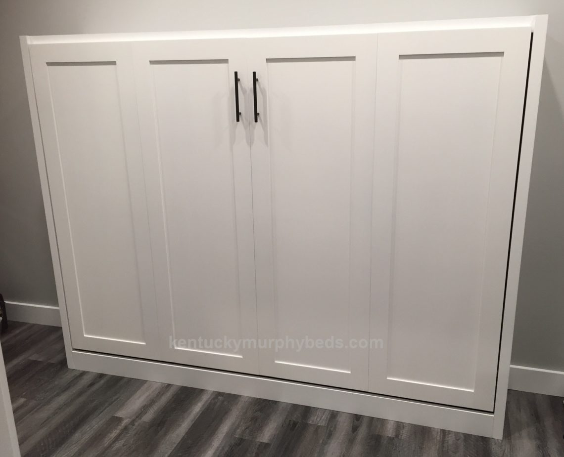 full size horizontal Murphy bed cabinet with shaker triim
