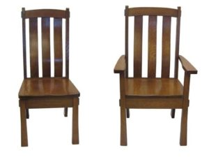 139C-Superior-Mission side and arm chair, Amish made, various wood and finishes
