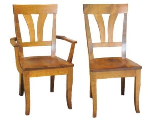 165c Fanback side and arm chairs, Amish made, various wood and finishes
