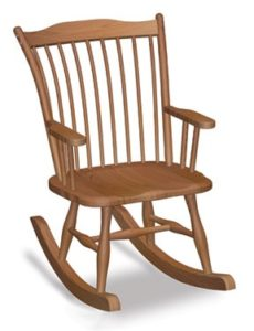 Archback rocker, Amish made, various wood and finishes