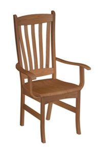 Benton arm chair, Amish made, various wood and finishes