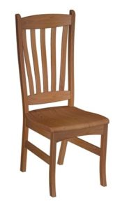 Benton side chair, Amish made, various wood and finishes