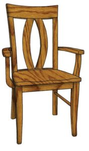 Brookfield arm chair, Amish made, various wood and finishes