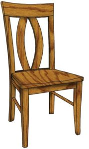 Brookfield side chair, Amish made, various wood and finishes