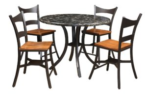 Cambria-Set of one table and four chairs, Amish made, Cambria pattern options