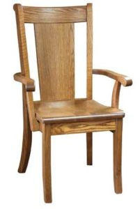 Cape May arm chair, Amish made, various wood and finishes