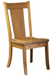 Cape May side chair, Amish made, various wood and finishes