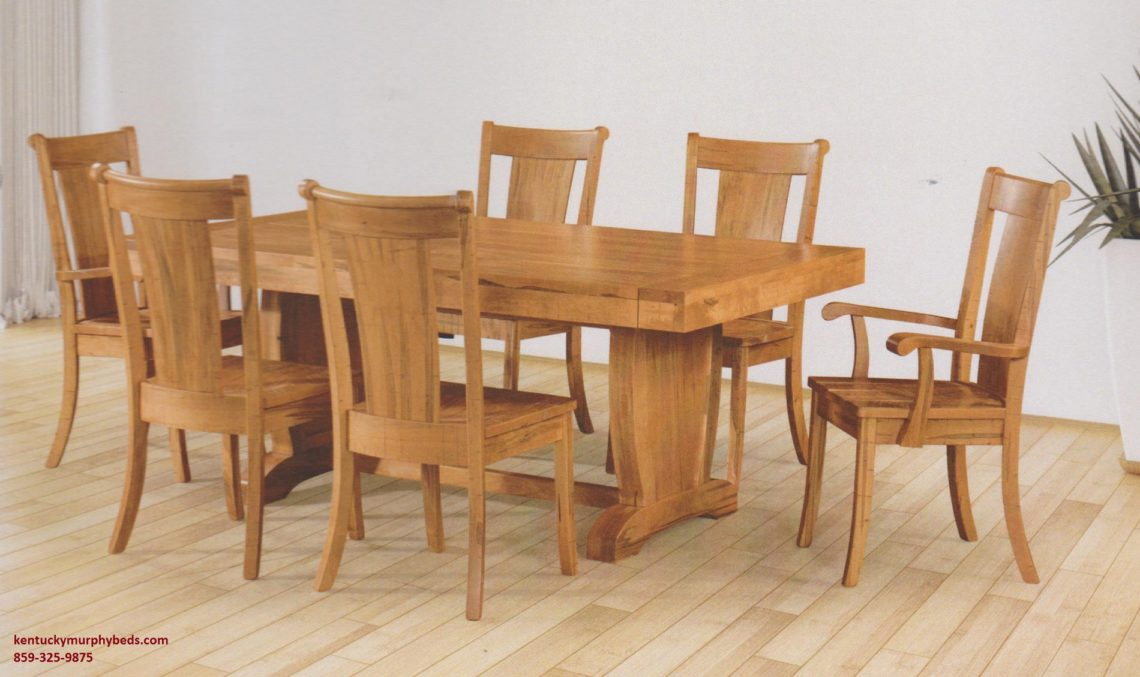 Saw-Marked collection, Chuckwagon Table and Chairs, Amish made