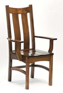 Country Shaker arm chair, Amish made, various wood and finishes