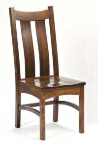 Country Shaker side chair, Amish made, various wood and finishes