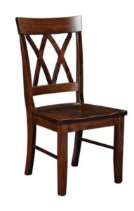 Double X-Back side chair, Amish made, various wood and finishes