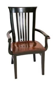 Delaney arm chair, Amish made, various wood and finishes