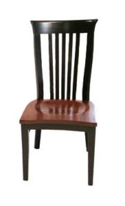 Delaney side chair, Amish made, various wood and finishes