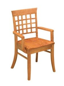 East Village arm chair, Amish made, various wood and finishes