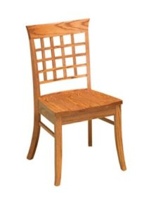 East Village side chair, Amish made, various wood and finishes