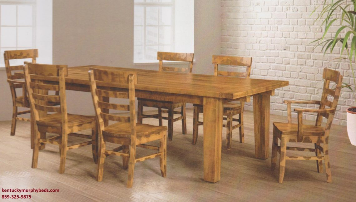 Saw-Marked Collection, Frontier Table and Chairs, Amish made