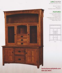 Larson Mission Hutch, Amish made, variety of woods and finishes