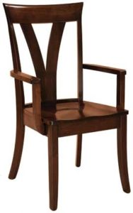 Levine arm chair, Amish made, various wood and finishes