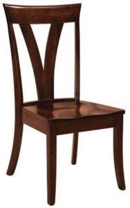 Levine side chair, Amish made, various wood and finishes,