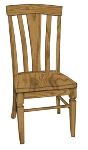 Lexington side chair Amish made, various wood and finishes