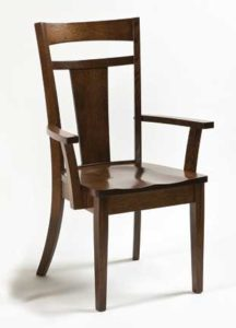 Livingston arm chair Amish made, various wood and finishes,