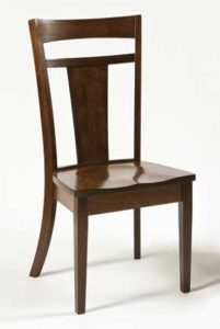 Livingston side chair, Amish made, various wood and finishes,