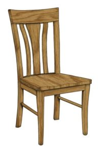 Metro side chair, Amish made, various wood and finishes