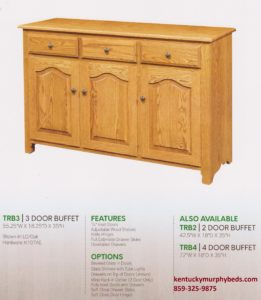 Traditional 3 door buffet, Amish made, custom wood and finishes