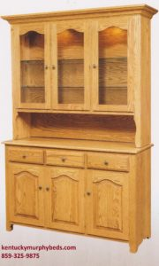 Traditional 3 door hutch Amish made, various wood and finishes, Murphy Beds of Central KY
