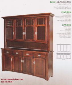 brunswick 4 door hutch, Amish made, variety of wood and finishes