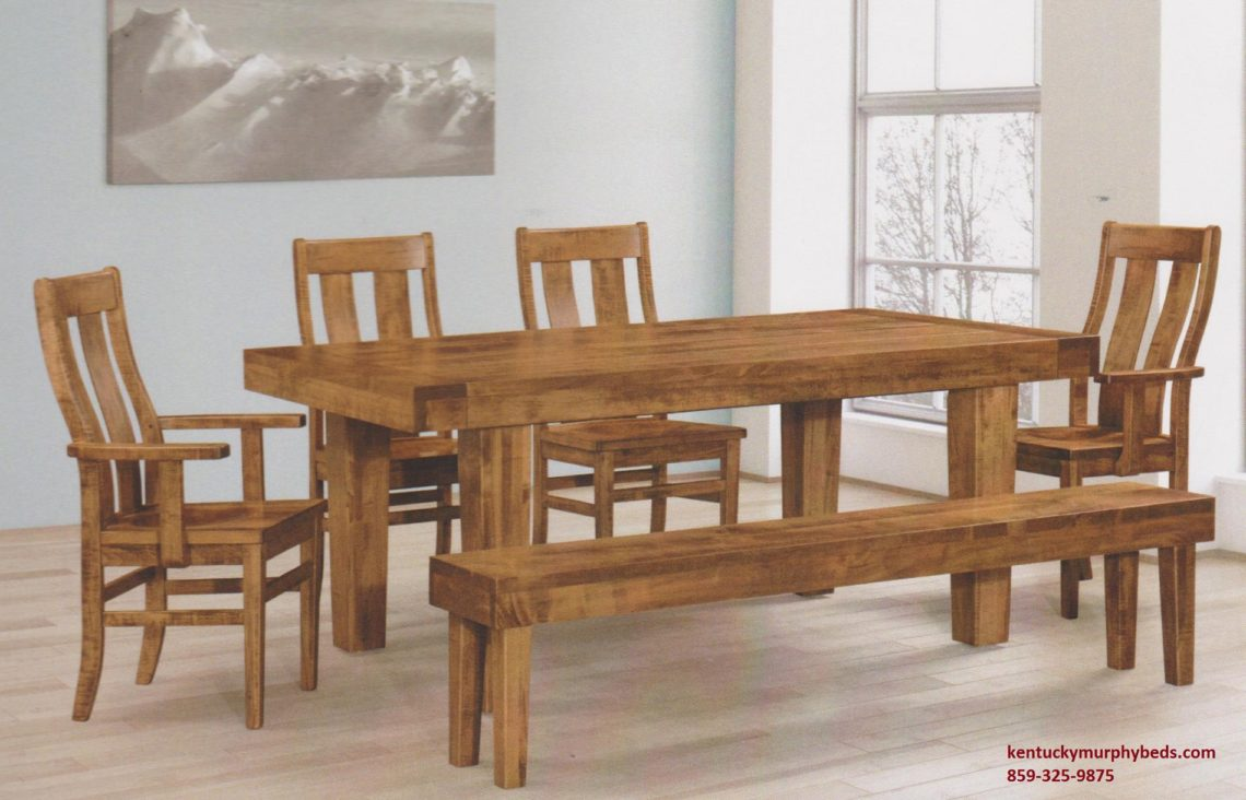 Saw-Marked Collection, Empire Table and Chairs, Amish made