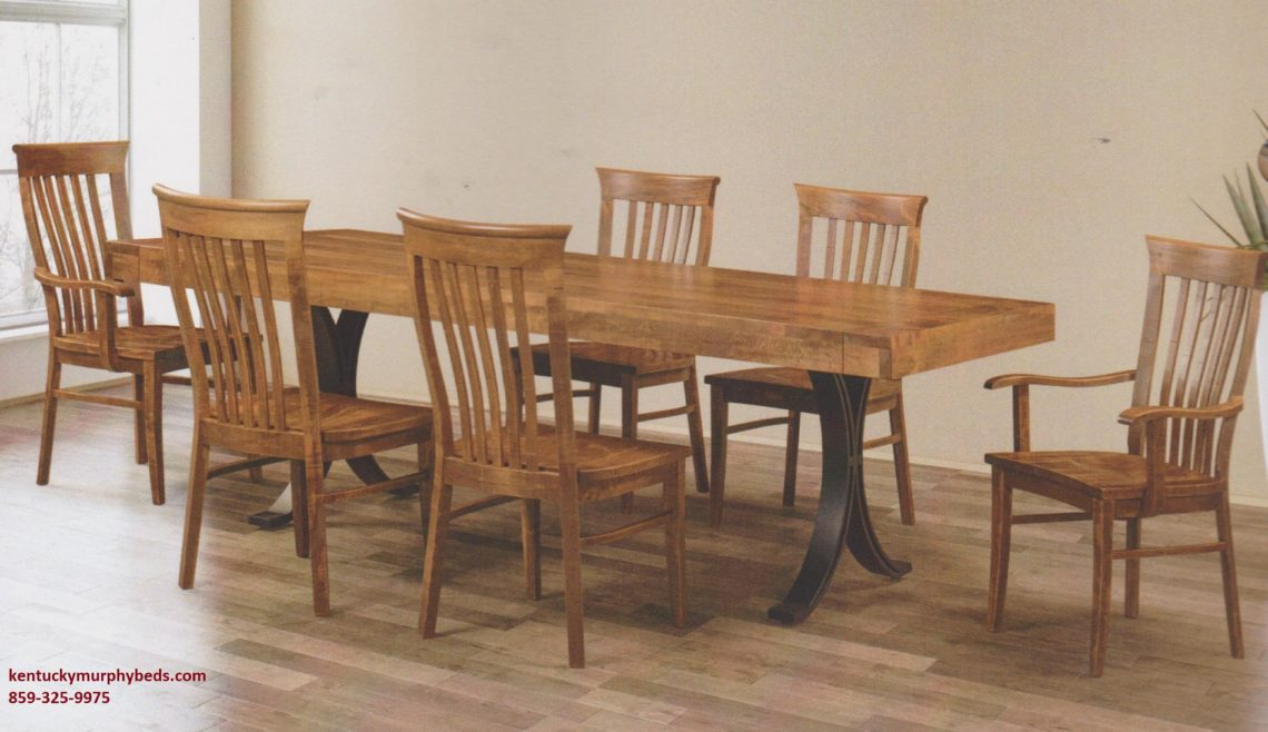 Saw-Marked Collection, Falcon Table and Chairs, Amish made