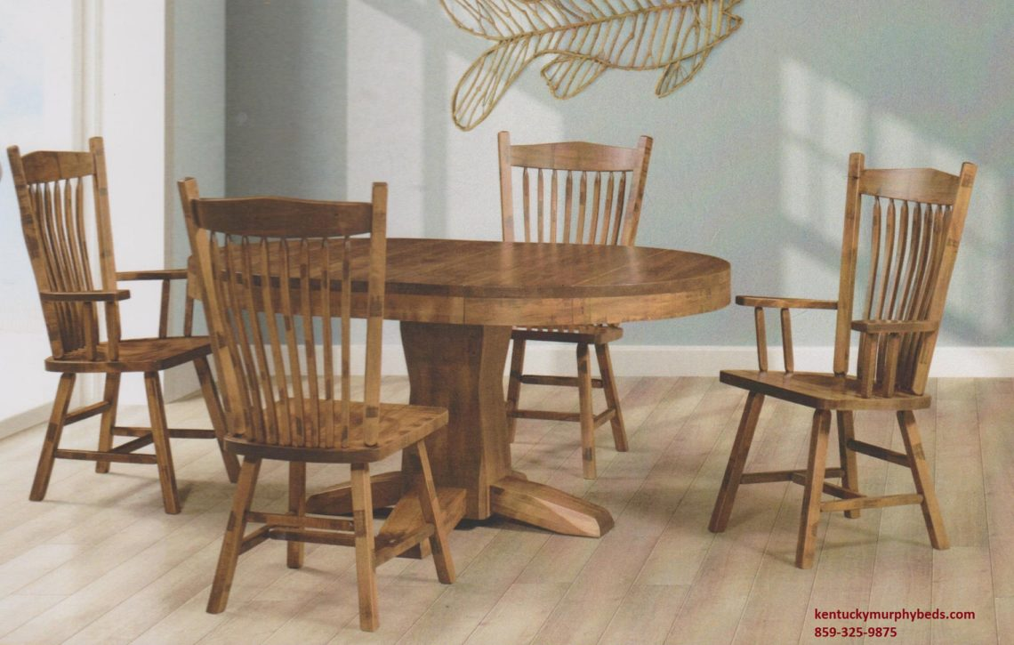 Saw-Marked Collection, Hoosier Table and Chairs, Amish made