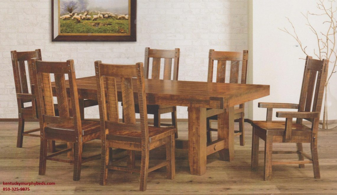 Saw-Marked Collection, Houston Table and Chairs, Amish made