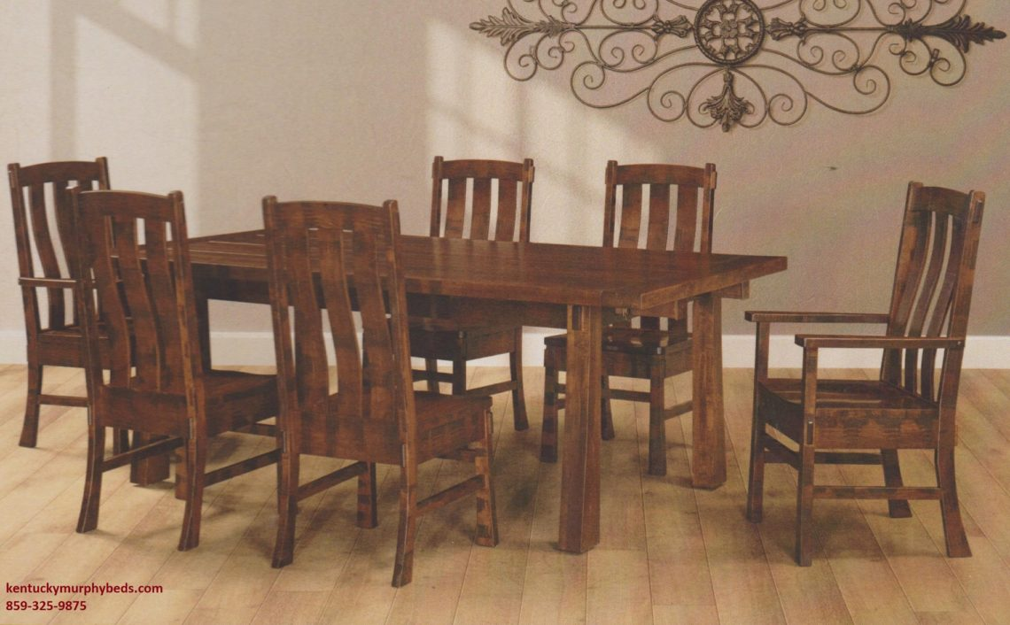 Saw-Marked Collection, Huron Table and Chairs, Amish made