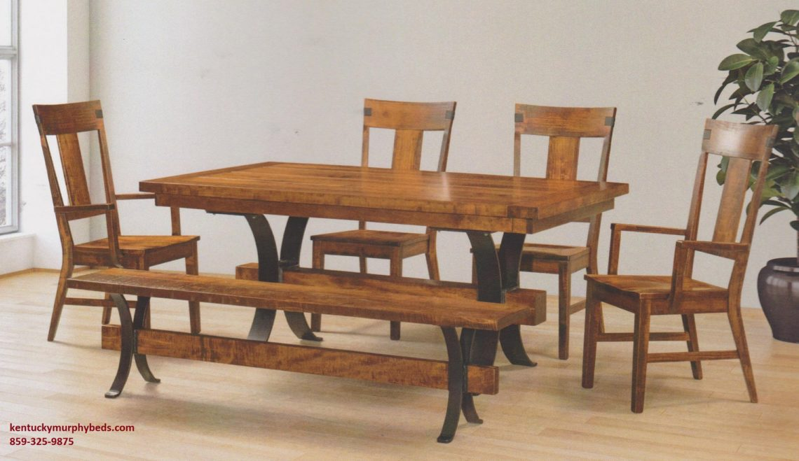Saw-MArked collection, Jericho Table and Chairs, Amish made