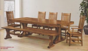 Saw-Marked Collection, Karlisle Table and Chairs, Amish Made