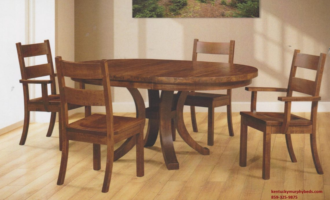 Saw-Marked Collection, Mayfield Table and Chairs, Amish made