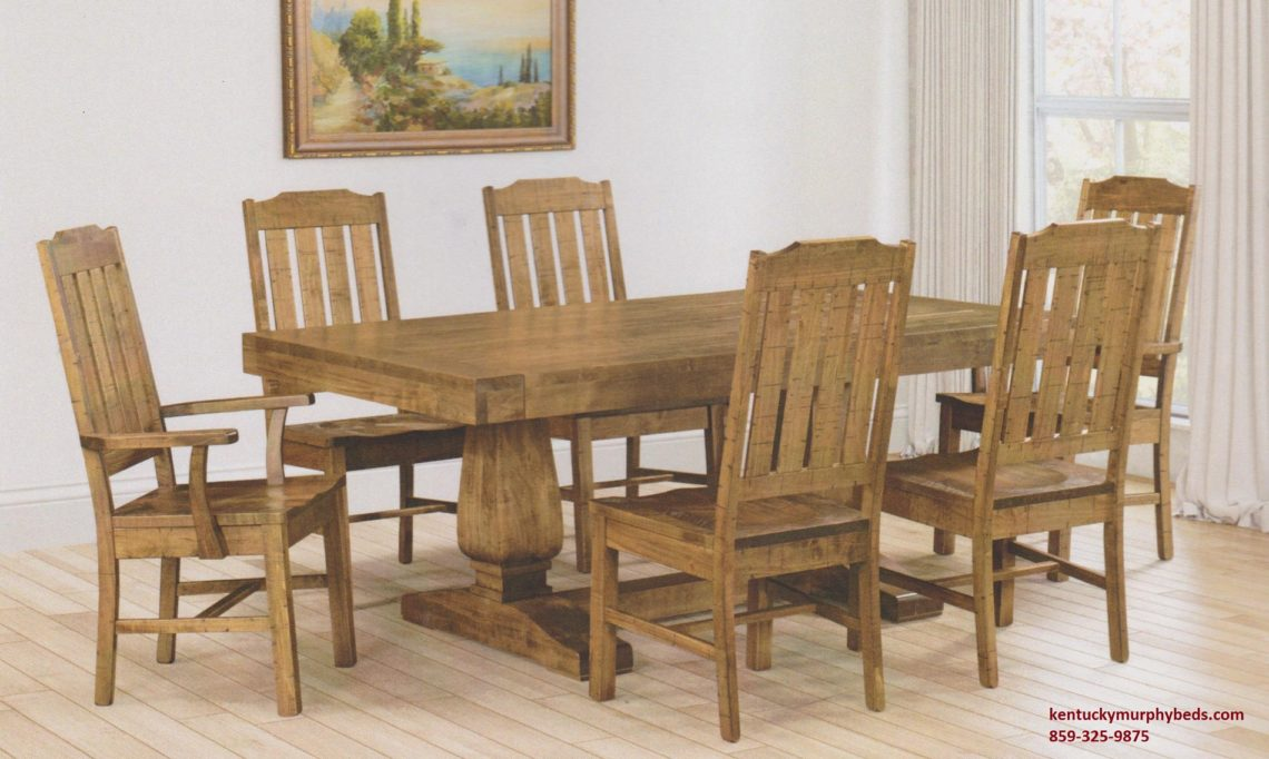 Saw-Marked collection, Omaha Table and Chairs, Amish made