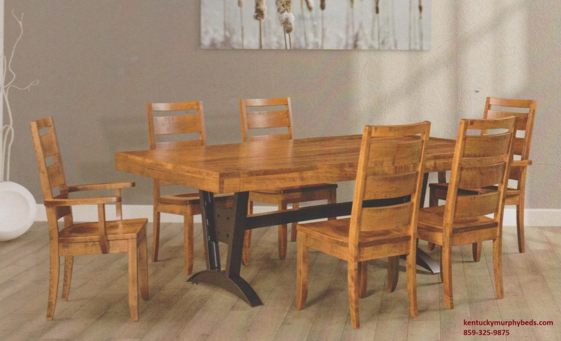 Saw-Marked Collection, Ozark Table and Chairs, Amish made