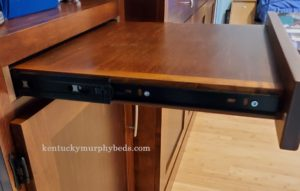desk drawer for Murphy bed bookcase; construction challenge